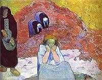 手描き-キャンバスの油絵 - Harvesting of Grapes at Arles Miseres humaines ポール・ゴーギャン 芸術 作品 洋画 ウォールアートデコレーション -サイズ06