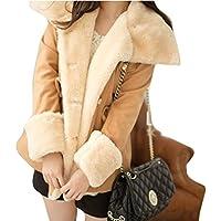 Gillberry Women's Jacket Women's Winter Warm Double Breasted Jacket Coat Outwear