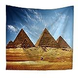 Cutelove タペストリー 壁掛け 130X150CM 異国風 エジプト ピラミッド #02