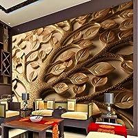 Xbwy カスタム3 D立体レリーフ葉壁紙寝室のデザイン現代のミニマリストの壁壁画ホーム改善壁お問い合わせ用紙-250X175Cm
