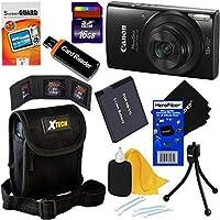 Canon PowerShot ELPH 190IS Wi - Fiデジタルカメラwith 10xズーム& HDビデオ(ブラック) + NB - 11lバッテリー+ 8pc 16GBアクセサリーキットW/HeroFiber Gentleクリーニングクロス