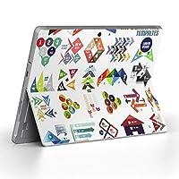 Surface go 専用スキンシール サーフェス go ノートブック ノートパソコン カバー ケース フィルム ステッカー アクセサリー 保護 ユニーク 矢印 カラフル 数字 008047