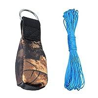 SunniMix ステンレススチール リング付き クライミング スローライン スローウェイトバッグ