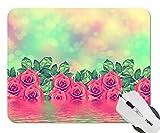 花のバラのつぼみ 個性的なゲーム マウスパッド オフィス マウスパッド