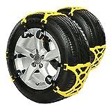 タイヤチェーン スノーチェーン,DINOKA 非金属タイヤチェーン 簡単取り付け 冬の必需品 アイスバーン サイズ調節可能 雪道/凍結/事故/悪路 防止 雪チェーン 滑り止めチェーン 165 mm-265 mm 幅のタイヤ対応