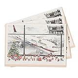 グリーティングライフ クリスマスカード ミニ サンタ 3枚セット 空港 S-410-AM
