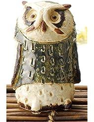 香炉 白萩 フクロウ 香炉(大) [H11cm] HANDMADE プレゼント ギフト 和食器 かわいい インテリア