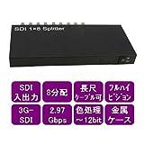 シリアルデジタル1対8分配器 3G-SDI,HD-SDI,SD-SDI対応【3GSDI-Sp18】アイシル作日本語取説付