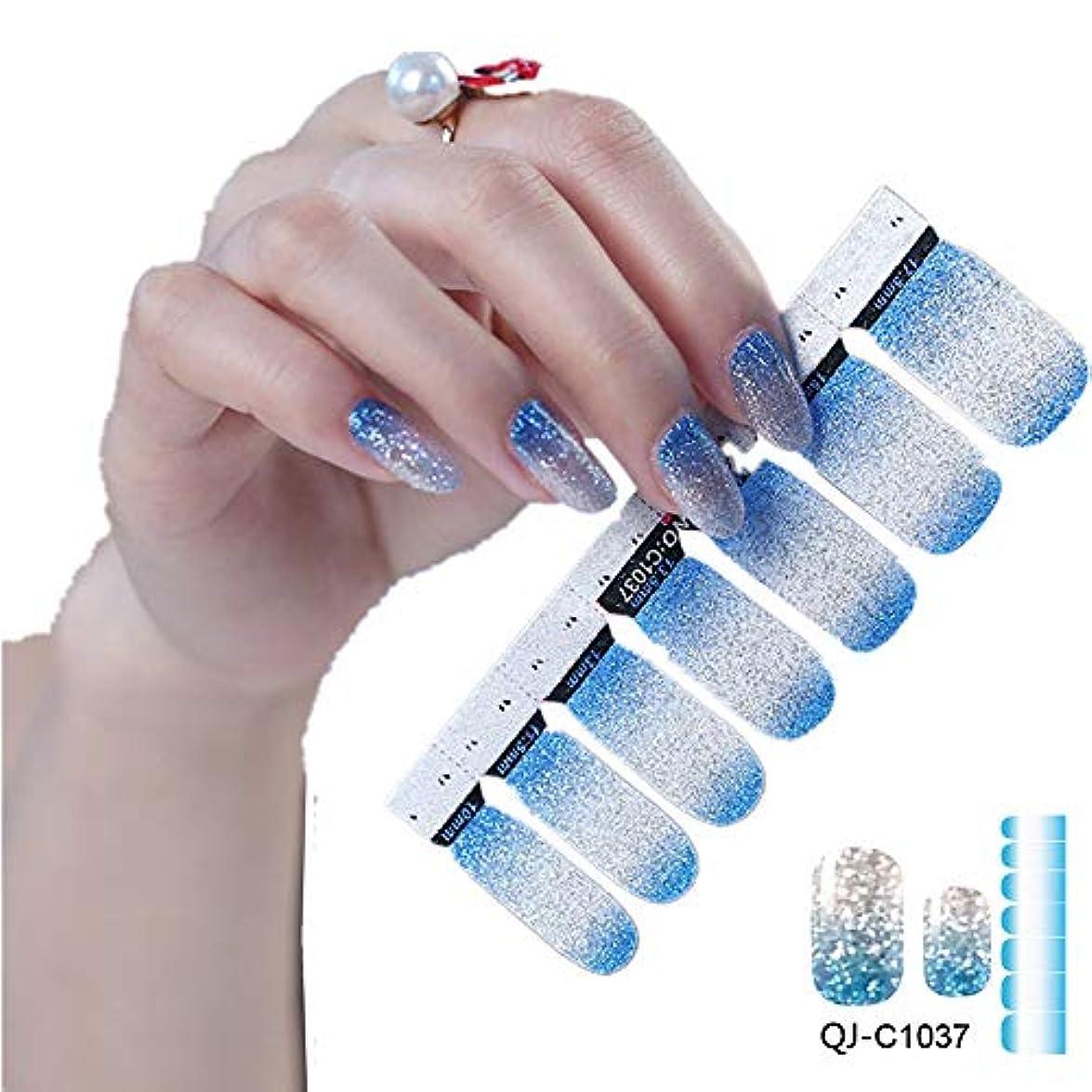 デュアル微生物悪意のある1枚×14シール ネイルシール ネイルステッカー セット 貼るだけマニキュア 爪やすり1本付き (1037)