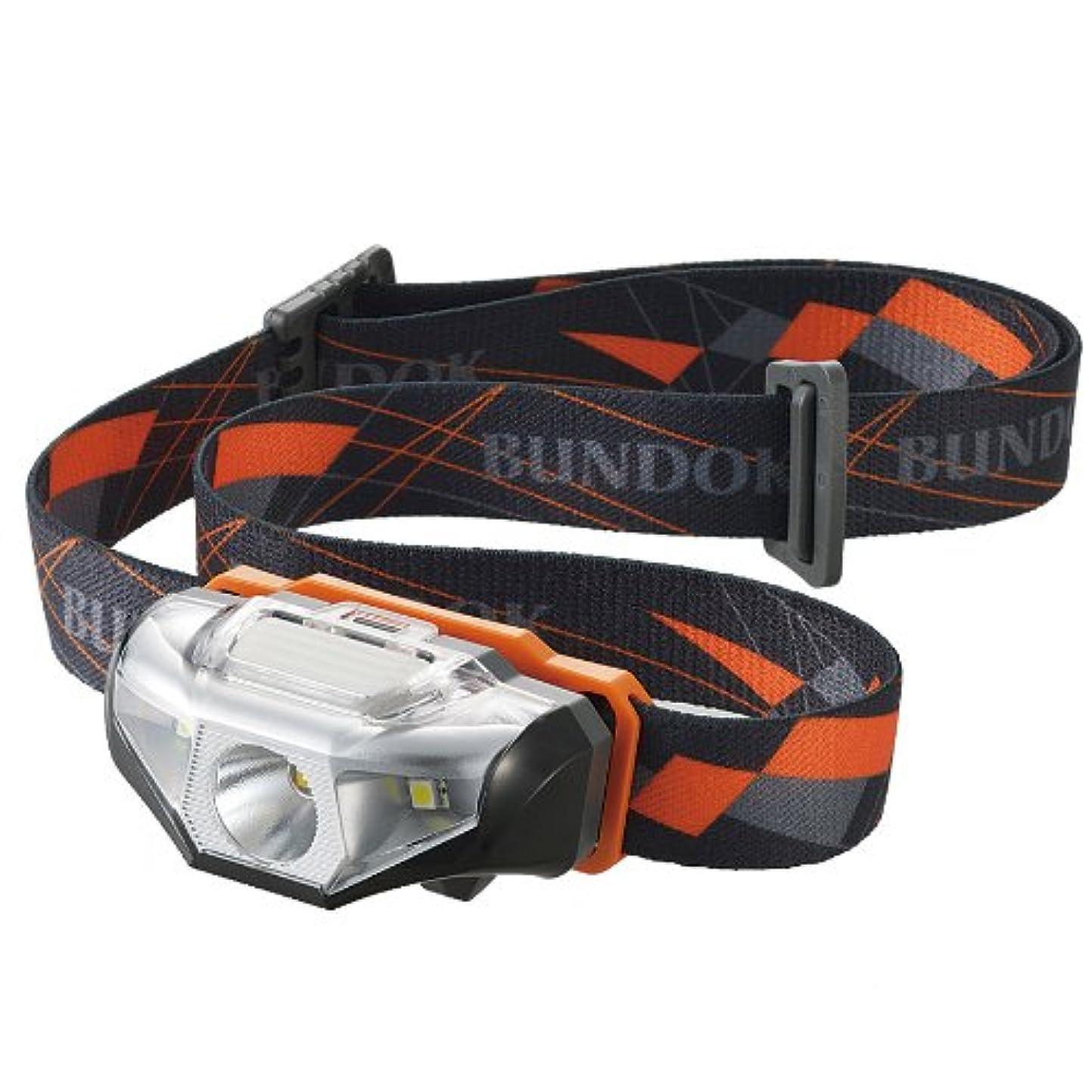 省略するアルプス先BUNDOK(バンドック) ヘッド ライト BD-260 防水 LED スポットビーム