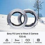 TECHART(テックアート)TZE-01 カメラレンズアダプター オートフォーカスアダプターリング SONY FEマウントレンズ →Nikon ZマウントカメラZ6 Z7 自動絞り 電子アダプター