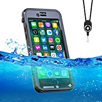 iPhone7/8 ケース 防水ケース アイフオン7/8 ケース 完全防水 防塵 耐衝撃 ダイビング用iPhone7/8 ケース 海 防雪 アイフォン ダイビング お風呂 IP68 ネックストラップ 黒