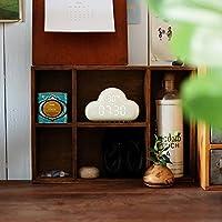 Annie life クリエイティブクラウド目覚まし時計、LEDデジタル目覚まし時計、多機能、温度、天気予報、小、音声制御、子供用目覚まし時計、USB充電 (Color : White)