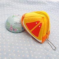 幼児期のゲーム かわいいフルーツのぬいぐるみのおもちゃの財布の両面ビーズ(オレンジ)