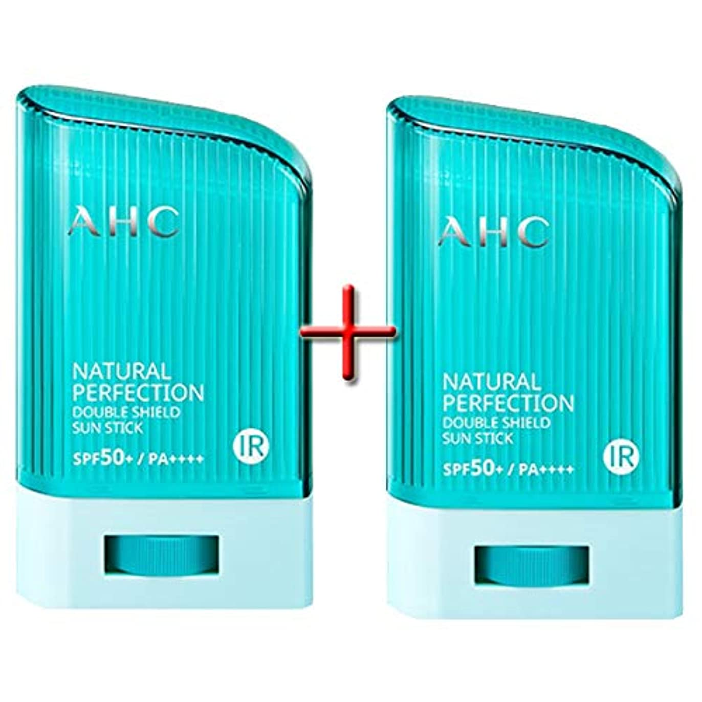 起こりやすいブロックする痛い[ 1+1 ] AHC ナチュラルパーフェクションダブルシールドサンスティック 22g, Natural Perfection Double Shield Sun Stick SPF50+ PA++++