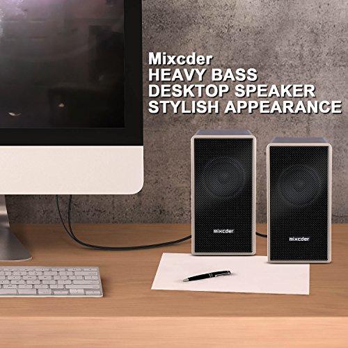 『PCスピーカー Mixcder MSH169 USB ステレオ マルチメディア スピーカー ステレオミニプラグ音源 小型 重低音 』の3枚目の画像