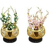 桜橘「白木竹鉢」(雛人形用飾り花)