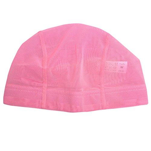 [해외]수영 모자 무지 메쉬 수영 모자 수영 모자 성인 | 어린이 YA-447 핑크 M/Swim cap solid color mesh swimming cap swimming cap for adults | children YA - 447 pink M