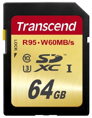 Transcend SDXCカード 64GB UHS-I U3対応 (最大読込速度95MB/s,最大書込速度60MB/s) U3シリーズ 4K動画撮影 無期限保証 TS64GSDU3