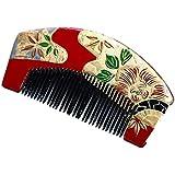花みやび 髪飾り ヘアアクセサリー 蒔絵くし 櫛 くし 半京 和風 振袖 着物 浴衣 漆 赤 レッド