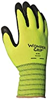 Lfs Glove WG310HVM Medium Green Wonder Grip High Visibility Latex Palm Gloves
