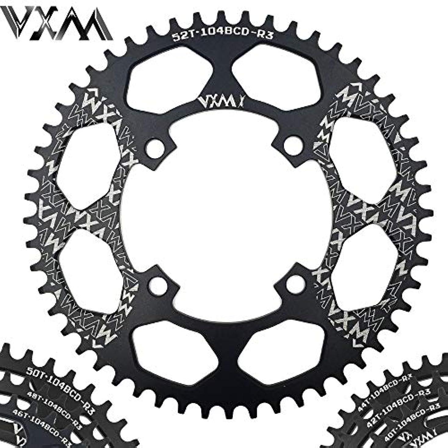 歩道皮肉な留め金Propenary - Bicycle Aluminum Chainring 104BCD 40T 42T 44T 46T 48T 50T 52T Mountain Bicycle Chainwheel Bike Crankset Bicycle Parts [ 104BCD 48T ]