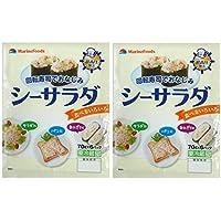 #591601-2Pマリンフーズ 回転寿司でおなじみ 冷蔵 シーサラダ (70g×6パック)×2袋