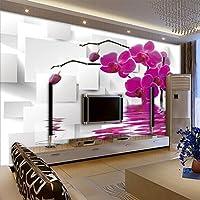 Weaeo 最新かつ最も人気のある壁画3Dステレオリリーフ幾何学的な花の壁紙リビングルームテレビソファ背景壁の壁紙-200X140Cm