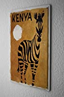 Tin Sign ブリキ看板 World Tour Kenya Zebra Metal Plate