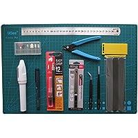 A3カッティングマット付き プラモデル用工具セット 模型 クラフトツール (18点セット)