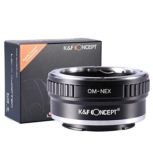 K&F Concept® マウントアダプター Olympus OMレンズ- Sony NEX Eカメラ装着用レンズアダプターリング Sony ...