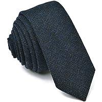 VOBOOM Men's Necktie Skinny Tie Tweed Pattern Woolen Neck Tie