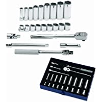 Williams WSS-19F 19-Piece 1//2-Inch Drive Socket and Drive Tool Set