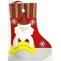 クリスマス ソックス 靴下 くつした に プレゼント いっぱい 詰めてもらおう! (雪 だるま)