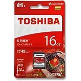 SDカード 16GB 東芝 16ギガ SDHC クラス10 UHS-1 TOSHIBA THN-N301R0160C4 ( SD-K016GR7AR040A の後継型番)48MB/s