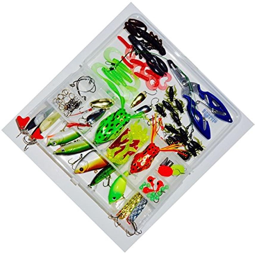 国民タフ人気のタックルボックスwith 100 + pieces of tackle含ま| Crankbaits and Spinnerbaits | Topwater Frogs |ジグの氷釣り| Great専門家用またはBeginners 。