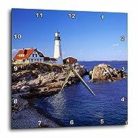 3dRose dpp_90758_3 Maine Portland Head Lighthouse-Us20 Rer0011-Ric Ergenbright-Wall Clock 15 by 15-Inch [並行輸入品]
