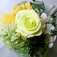 1055【コサージュ】【結婚式、入学式、卒業式】プリザーブド・バラ フレッシュグリーン1輪