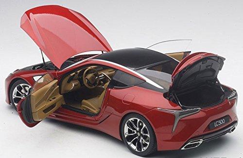 Autoart 1 18 Lexus Lc500 Metallic Red Interior Color Tan Finished