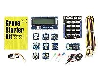 Grove-スターターキット 基本部品 Arduino適用 LEDセンサ/ブザー/リレーセンサなど 初心者向け arduinoをはじめようキット(28個のセット)