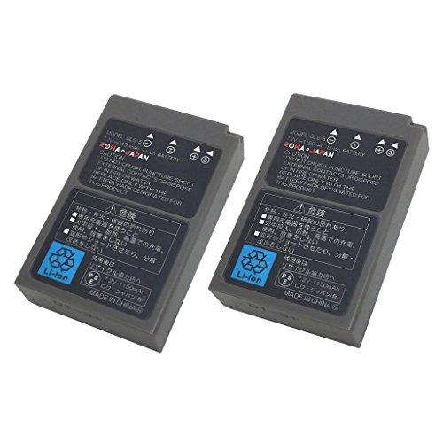 【日本市場向け】【実容量高】【純正充電器対応】【2個セット】 Olympus オリンパス E-PL1s E-PL2 E-PL6 E-PL8 の BLS-5 BLS-50 互換 バッテリー【ロワジャパン】
