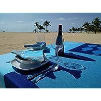Seascapeコットンジャカードナプキン – 2のセット、ブルー