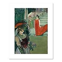 "The Opera "" Messalina "" atボルドー( Messaline Descend L 'escalier BORDÉ de figurants ) byロートレック、。アート 32x40 6396_3240_ungc"