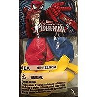 スパイダーマン SPIDER-MAN 6pcバルーン(ゴム風船)9008【アメコミ おもちゃ キャラクター グッズ】
