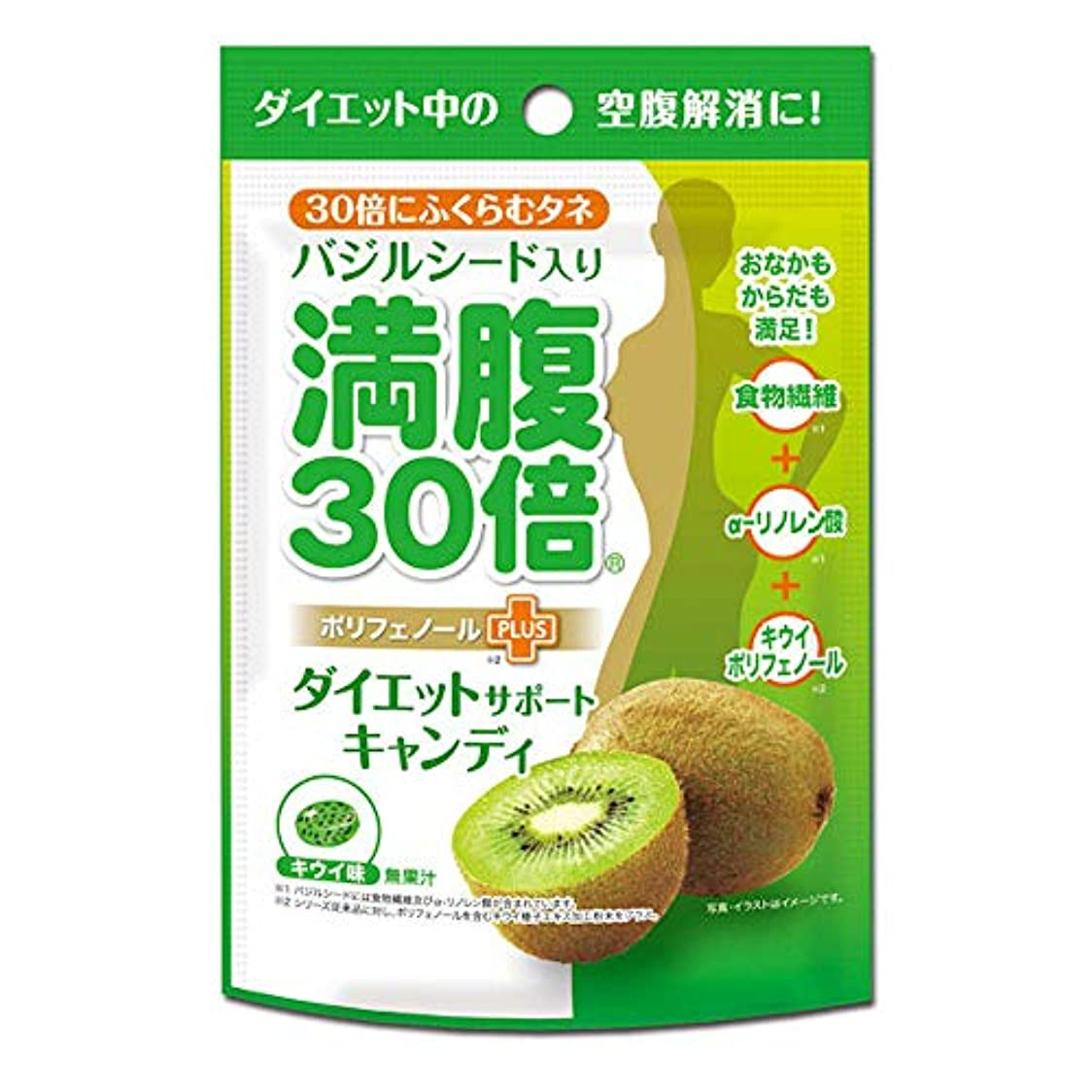 抜本的なアルミニウム繁雑満腹30倍 ダイエットサポートキャンディ キウイ味 42g 約11粒入