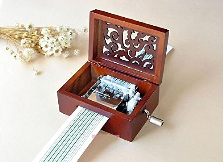 アンティークのビンテージ木製オルゴール、yr自身の歌を製作してパンチを含み、20は白紙と16の五線紙の最高の贈り物