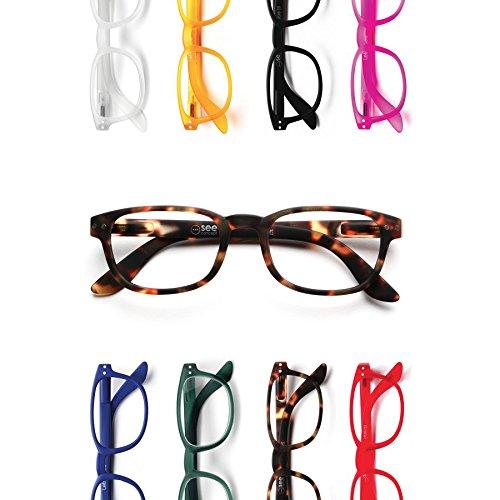 LETMESEE #B TORTOISE SOFT (度数 : +2.0) フランス パリ発、革新的なデザインのリーディンググラス(老眼鏡)