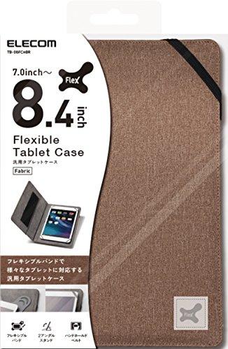 エレコム 7.0〜8.4インチ汎用タブレットケース ファブリック ブラウン TB-08FCHBR 1個