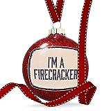 NEONBLOND クリスマスデコレーション I'm a Firecracker 4th 7月 エイジング ビンテージ ブルー オーナメント