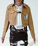 Gun With 進撃の巨人 調査兵団 ジャケット 自由の翼 コスプレ 衣装 男女兼用 エレン ミカサ リヴァイ ハンジ (M)